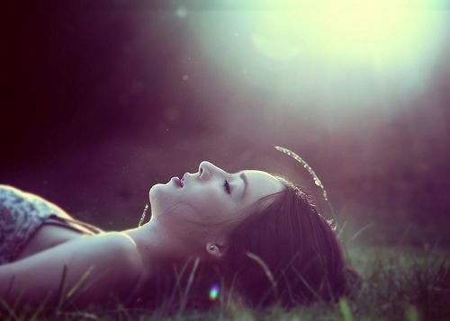 woman resting in sun