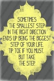 small steps, move mountains
