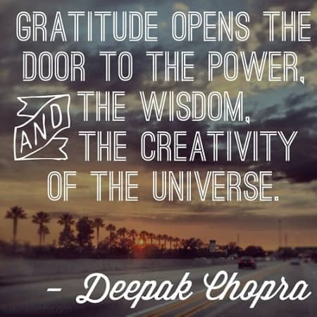 Gratitude, Deepak Chopra