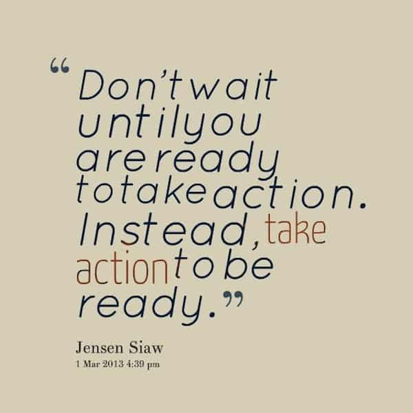 take action to be ready, Jensen Siaw