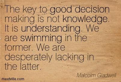 good decision making, Malcolm Gladwell
